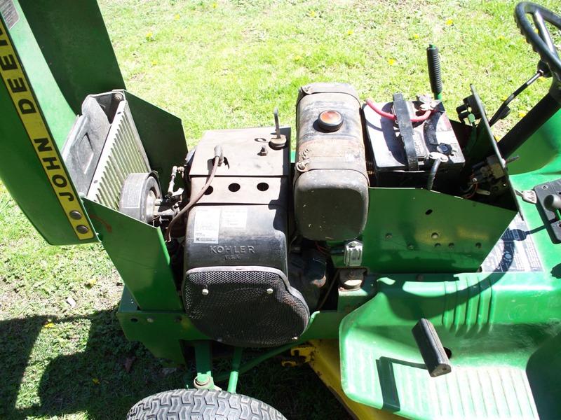 deere 112 john tractor 1974 mower place